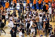 Esultanze Fortitudo Bologna<br /> Kontatto Fortitudo Bologna - Virtus Segafredo Bologna<br /> Lega Nazionale Pallacanestro 2016/2017<br /> Bologna, 14/04/2017<br /> Foto Ciamillo-Castoria / M. Brondi