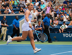 September 1, 2018 - Dominika Cibulkova of Slovakia in action during her third-round match at the 2018 US Open Grand Slam tennis tournament. New York, USA. September 02th, 2018. (Credit Image: © AFP7 via ZUMA Wire)