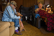 Bob drops off a meal for Helen Kenner. Bob Moseley is a veteran Marine with an enormous heart.  Although he is 82 years old, he spends two days each week delivering meals on wheels to families in remote parts of eastern Tennessee.