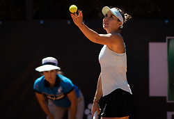 May 16, 2019 - Rome, ITALY - Belinda Bencic of Switzerland in action during her second-round match at the 2019 Internazionali BNL d'Italia WTA Premier 5 tennis tournament (Credit Image: © AFP7 via ZUMA Wire)