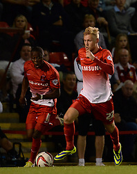 Leyton Orient's Jayden Stockley runs with the ball - Photo mandatory by-line: Mitchell Gunn/JMP - Tel: Mobile: 07966 386802 08/10/2013 - SPORT - FOOTBALL - Brisbane Road - Leyton - Leyton Orient V Coventry City - Johnstone Paint Trophy