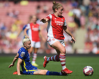 Football - 2021 / 2022 Women's Super League - Arsenal vs Chelsea - Emirates Stadium - Sunday 5th September 2021<br /> <br /> Arsenal Women's Kim Little holds off the challenge from Chelsea FC Women's Bethany England.<br /> <br /> COLORSPORT/Ashley Western