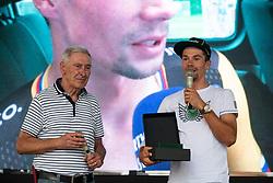 Ales Cerin and Primoz Roglic during reception of slovenian rider Primoz Roglic after Tour de France 2018 on August 6, 2018 in Ljubljana, Slovenia. Photo by Urban Meglic / Sportida