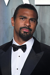 David Haye attending the Lost in Space event to celebrate the 60th anniversary of the OMEGA Speedmaster held in the Turbine Hall, Tate Modern, 25 Sumner Street, Bankside, London. PRESS ASSOCIATION Photo. Picture date: Wednesday 26 April  2017. Photo credit should read: Ian West/PA Wire