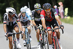 July 8, 2017 - Station Des Rousses, FRANCE - French Warren Barguil of Team Sunweb, Belgian Jan Bakelants of AG2R La Mondiale, Belgian Serge Pauwels of Dimension Data and Belgian Greg Van Avermaet of BMC Racing Team pictured in action during the eighth stage of the 104th edition of the Tour de France cycling race, 187,5km from Dole to Station des Rousses, France, Saturday 08 July 2017. This year's Tour de France takes place from July first to July 23rd. BELGA PHOTO DIRK WAEM (Credit Image: © Dirk Waem/Belga via ZUMA Press)