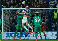 Football - 2018 / 2019 Emirates FA Cup - Fifth Round: Queens Park Rangers vs. Watford<br /> <br /> Matt Smith (Queens Park Rangers) works hard to hold the attack at Loftus Road<br /> <br /> COLORSPORT/DANIEL BEARHAM