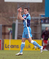 Photo: Leigh Quinnell.<br /> Wycombe Wanderers v Shrewsbury Town. Coca Cola League 2. 11/03/2006. Wycombes Russell Martin thanks his team mates after his goal.