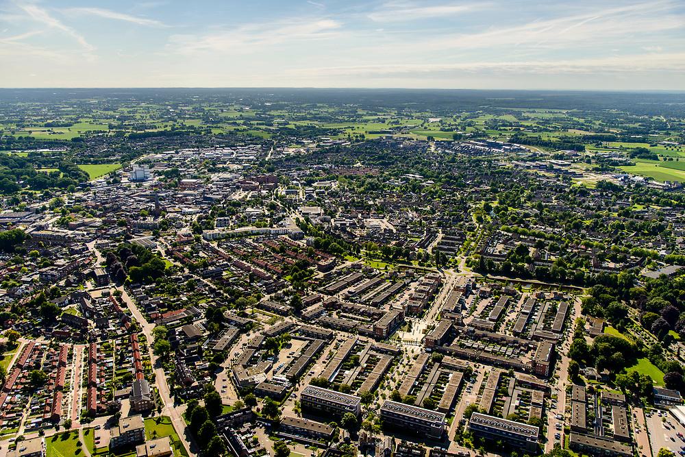 Nederland, Gelderland, Veluwe, 17-07-2017; Barneveld, centrum van de pluimveeteelt.<br /> Barneveld, center of poultry farming.<br /> <br /> luchtfoto (toeslag op standard tarieven);<br /> aerial photo (additional fee required);<br /> copyright foto/photo Siebe Swart