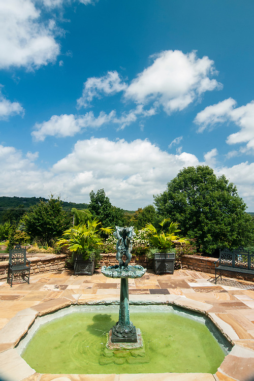 Patio at the Baker Arboretum & Downing Museum in Bowling Green, Kentucky on Thursday, August 17, 2017. Copyright 2017 Jason Barnette