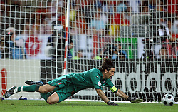 Goalkeeper of Italy Gienluigi Buffon during the UEFA EURO 2008 Quarter-Final soccer match between Spain and Italy at Ernst-Happel Stadium, on June 22,2008, in Wien, Austria. Spain won after penalty shots 4:2. (Photo by Vid Ponikvar / Sportal Images)