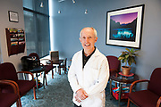 Portrait of a dentist in his waiting room
