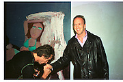 BOB CARLOS-CLARKE; SIMON SEBAG-MONTEFIORE, Baby 2000 dinner, Atlantis Gallery. Brick Lane. London. 4 November 1999.<br /> <br /> SUPPLIED FOR ONE-TIME USE ONLY> DO NOT ARCHIVE. © Copyright Photograph by Dafydd Jones 248 Clapham Rd.  London SW90PZ Tel 020 7820 0771 www.dafjones.com