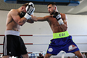 Boxen: Giants Professional Boxing, Session 3, Hamburg, 17.04.2021<br /> Edison Zani (GER) - Miroslav Serban (CZ)<br /> © Torsten Helmke