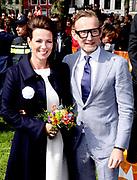 Koningsdag 2018 in Groningen / Kingsday 2018 in Groningen.<br /> <br /> Op de foto: Prins Bernhard en Prinses Annette