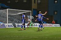Football - 2020 / 2021 Sky Bet League One - Gillingham vs Accrington Stanley - Priestfield Stadium<br /> <br /> Dion Charles (Accrington Stanley) turns away after scoring<br /> <br /> <br /> COLORSPORT/DANIEL BEARHAM