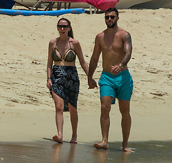 EXCLUSIVE: Southhampton footballer Charlie Austin and family are spotted on Sandy Lane beach in Barbados. 24 May 2017 Pictured: Charlie Austin. Photo credit: Chris Brandis-Islandpaps.com/MEGA TheMegaAgency.com +1 888 505 6342
