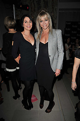 Left to right, SADIE FROST and JO WOOD at the 2nd Rodial Beautiful Awards in aid of the Hoping Foundation held at The Sanderson Hotel, 50 Berners Street, London on 1st February 2011.