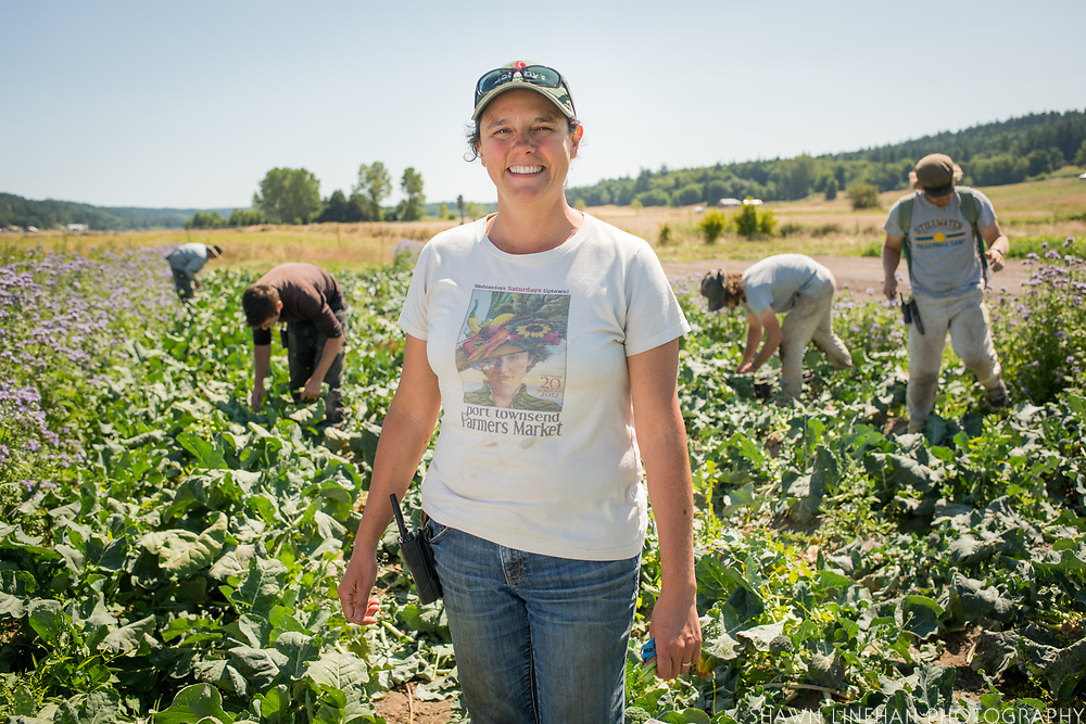 Karyn Williams, owner and operator of Red Dog Farm, an organic vegetable farm in Chimicum, WA
