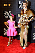April 1, 2016- Newark, NJ: United States- Recording Audra Day and guest attend the 2016 Black Girls Rock Red Carpet Arrivals held at NJPAC on April 1, 2016 in Newark, New Jersey. Black Girls Rock! is an annual award show, founded by DJ Beverly Bond, that honors and promotes women of color in different fields involving music, entertainment, medicine, entrepreneurship and visionary aspects.   (Terrence Jennings/terrencejennings.com)