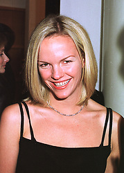 ELISABETH MURDOCH daughter of media tycoon Rupert Murdoch, at a party in London on 24th February 1998.MFP 138