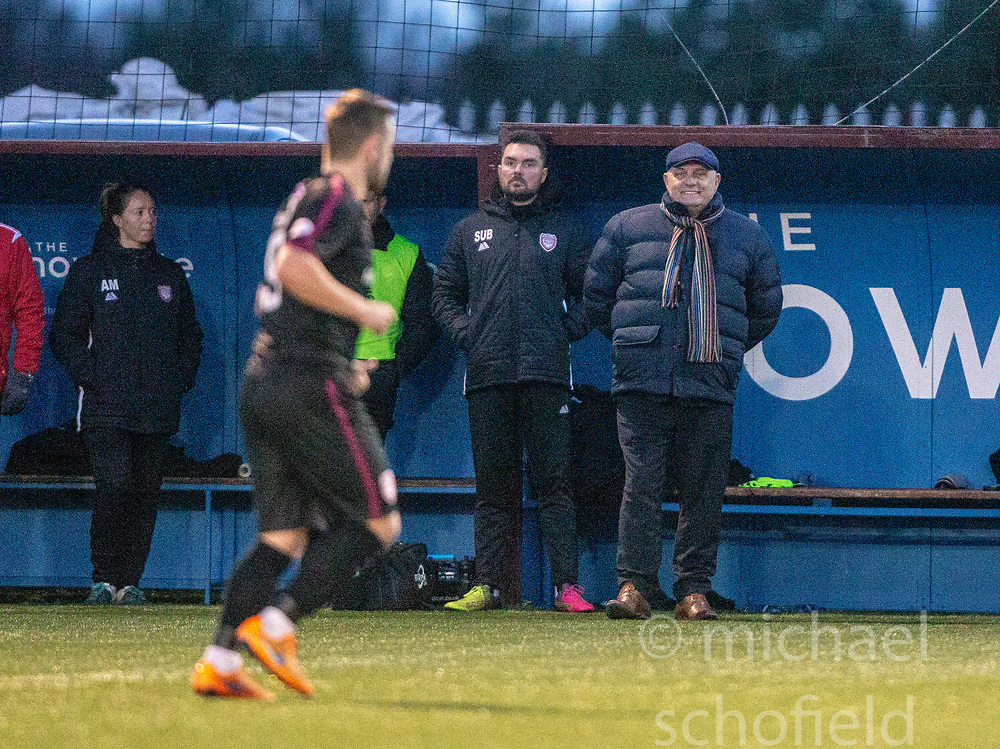 Arbroath's manager Dick Campbell. Stenhousemuir 1 v 4 Arbroath, Scottish Football League Division One play12/1/2019 at Ochilview Park.