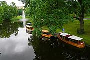 Boats on he Canal in Bastejkalna park, Riga, Latvia