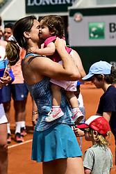 June 9, 2018 - Paris, France, France - Amelie Mauresmo et sa fille Ayla et son fils Aaron (Credit Image: © Panoramic via ZUMA Press)