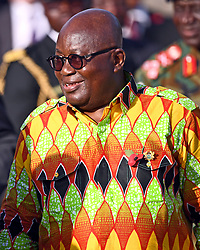 President of Ghana, Nana Akufo-Addo, during the Commonwealth War Graves in Accra, Ghana, on day three of the royal couple's trip to west Africa.