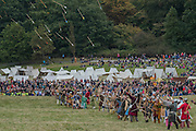 Norman archers attack - English Heritage's annual re-enactment of the Battle of Hastings marks the 950th anniversary of the Battle in 1066. The event includes a Cavalry encampment, Norman & Saxon encampments and Medieval traders. It takes place at Battle Abbey on October 15th and 16th.