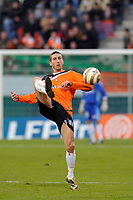 FOOTBALL - FRENCH LEAGUE CUP 2009/2010 - 1/4 FINAL - 27/01/2010 - FC LORIENT v OLYMPIQUE LYONNAIS - PHOTO GUY JEFFROY / DPPI - MORGAN AMALFITANO (LOR)