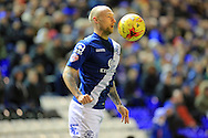 David Cotterill during the Sky Bet Championship match between Birmingham City and Bolton Wanderers at St Andrews, Birmingham, England on 23 February 2016. Photo by Daniel Youngs.