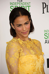 Paula Patton at the 2014 Film Independent Spirit Awards Arrivals, Santa Monica Beach, Santa Monica, United States, Saturday, 1st March 2014. Picture by Hollywood Bubbles / i-Images<br /> UK ONLY