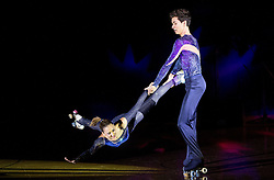 Xavier Gonzalez Lopez and Laura Sanchez perform during special artistic roller skating event when Lucija Mlinaric of Slovenia, World and European Champion ended her successful sports career, on November 7, 2015 in Rence, Slovenia. Photo by Vid Ponikvar / Sportida