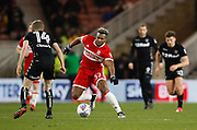 Adama Traoré of Middlesbrough during the EFL Sky Bet Championship match between Middlesbrough and Leeds United at the Riverside Stadium, Middlesbrough, England on 2 March 2018. Picture by Paul Thompson.