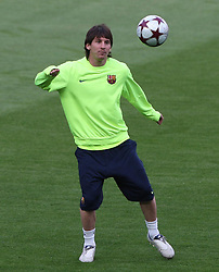 File photo dated 05-04-2010 of Barcelona's Lionel Messi