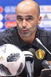 June 16, 2018 - Sochi, RUSSIA - Belgium's head coach Roberto Martinez pictured during a press conference of Belgian national soccer team the Red Devils in Sochi, Russia, Saturday 16 June 2018. The team is preparing for their first game at the FIFA World Cup 2018 next Monday. BELGA PHOTO BRUNO FAHY (Credit Image: © Bruno Fahy/Belga via ZUMA Press)
