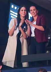 Prince Harry's girlfriend Meghan Markle (left) during the Invictus Games Closing Ceremony Air Canada Centre in Toronto, Canada.