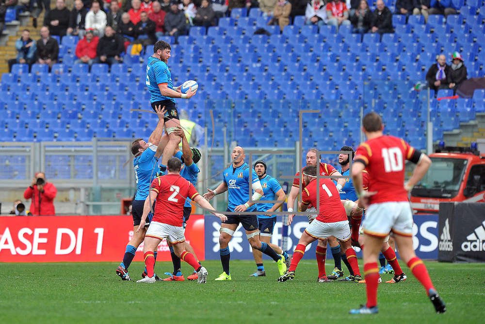 Roma, Stadio Olimpico 05/2/2017<br /> RBS 6 Nations Round 1<br /> Italy vs Wales (Italia - Galles)<br /> <br /> <br /> <br /> <br /> © CFP Photo Agency / Federico Matteucci