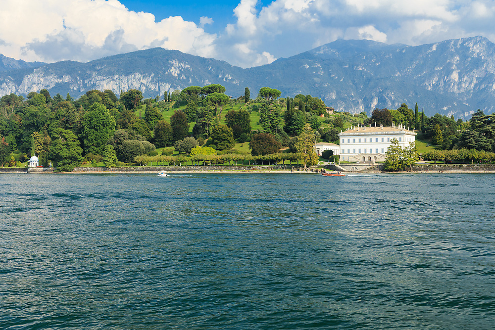 A Villa Melzi on Lago di Como, Italy. Villa Melzi d'Eril was built as the summer residence of Francesco Melzi d'Eril in the early 1800s. This fabulous villa is private property, but people can study its magnificent garden.