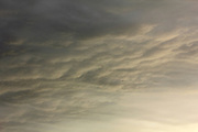 Clouds over Ghent, Belgium,, towards sunset