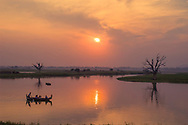 This is just a beautiful sunset that I was lucky enough to witness in a beautiful part of the world. This is U Bien's bridge, near Mandalay, Myanmar.