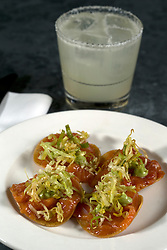 Trout tostadas, an entree at Cala, the first U.S. restaurant from Mexican chef Gabriela Camara, Monday, April 4, 2016, in San Francisco, Calif. (Photo by D. Ross Cameron)