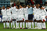 Fotball<br /> Treningskamp / Friendly match<br /> Norge v Costa Rica / Norway v Costa Rica 1-0<br /> 24.05.2005<br /> Foto: Morten Olsen, Digitalsport<br /> <br /> Ett minutts stillhet for Costa Ricas døde lagkamerat / One minute silence for the dead Costa Rica player