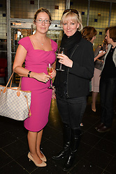Left to right, REBECCA COCKCROFT and actress HERMIONE NORRIS at a ladies lunch in aid of the charity Maggie's held at Le Cafe Anglais, 8 Porchester Gardens, London on 29th April 2014.
