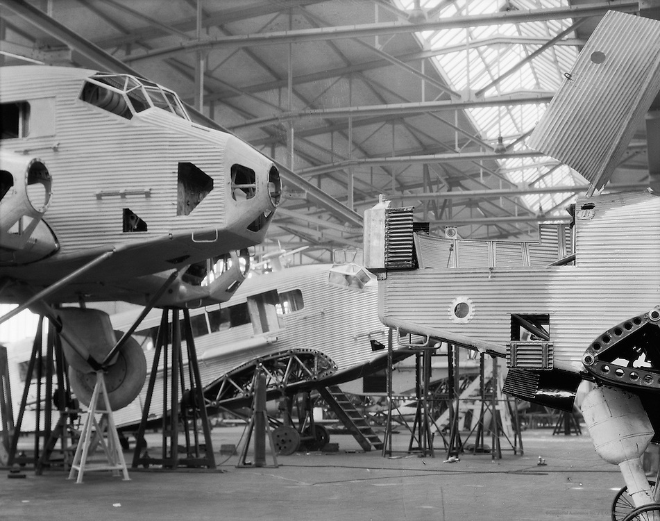 G31 Tri-motor Aircraft Under Construction, Junkers Aircraft Plant, Dessau, 1928