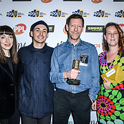 The A&R award Winner Ed Horrox of The Music Producers Guild Awards at Grosvenor House, Park Lane, on 27th February 2020, London, UK.