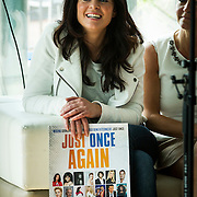 NLD/Alphen aan de Rijn/20140402 - Just Once Again , Kim-Lian van der Meij met poster in haar hand
