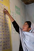 Afghanistan. Women's education class.