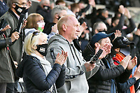 Football - 2020 / 2021 Sky Bet Championship - Play-offs - Semi-final, second leg - Swansea City vs Barnsley - Liberty Stadium.<br /> <br /> Swansea fans clap as the teams leave the field at half tim <br /> COLORSPORT/WINSTON BYNORTH