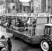 The St. Patrick's Day Parade makes its way down High Street and onto Main Street in 1978. Photo shows the TUF shoes float.<br /> Picture by Don MacMonagle<br /> www.macmonagle.com